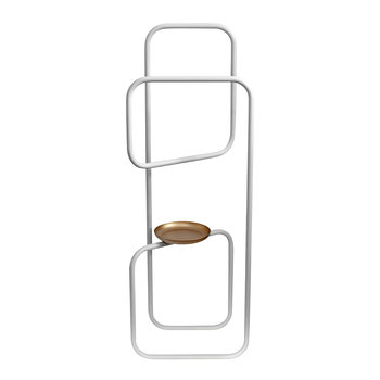 Rulo Valet Stand - White & Gold