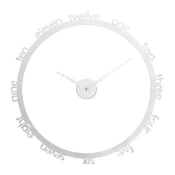 Hoop Wall Clock - White