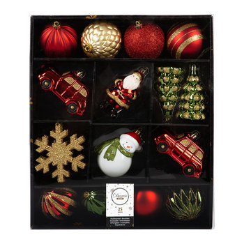 Christmas Assorted Baubles - Set of 25
