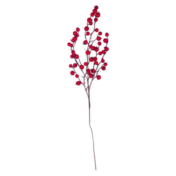 Berry Artificial Stem - Red