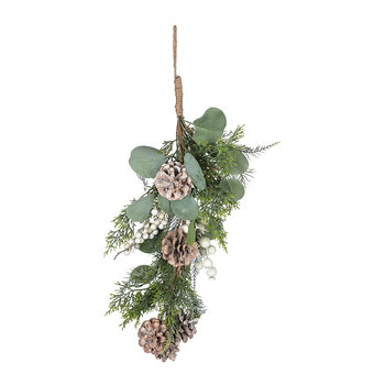 Glitter Berries and Pincone Bunch - Green/White