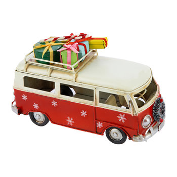 Bus with Presents Ornament - Red