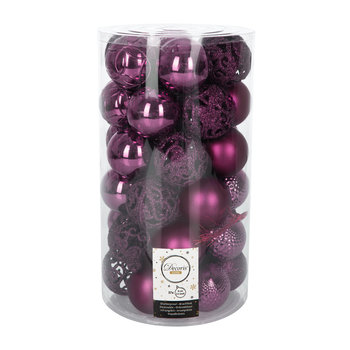 Set of 37 Assorted Baubles - Royal Purple