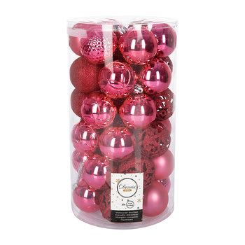 Set of 37 Assorted Baubles - Flashing Pink