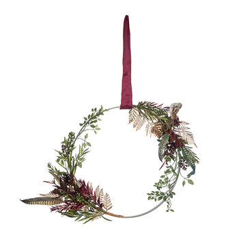 Ring Wreath with Bird