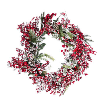 Frosted Red Berries Wreath