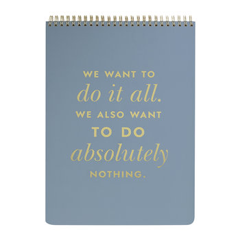 'Do It All' Top Spiral Notebook - Large