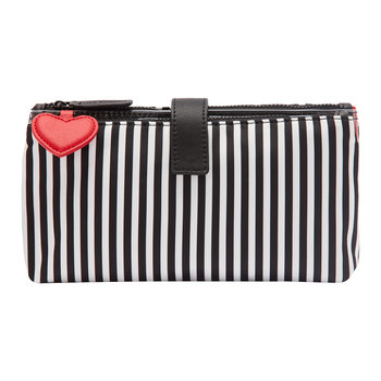 Hearts & Stripes Double Make Up Bag