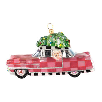Pink Poodle Caddy Tree Decoration