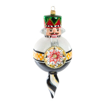 Nutcracker Reflector Tree Decoration - Black
