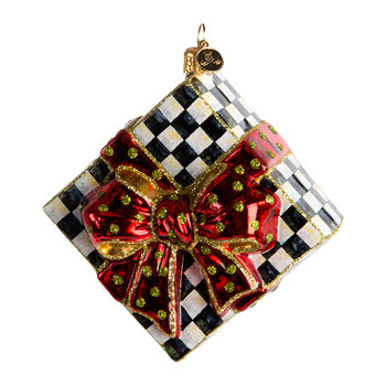 Courtly Check Present Tree Decoration