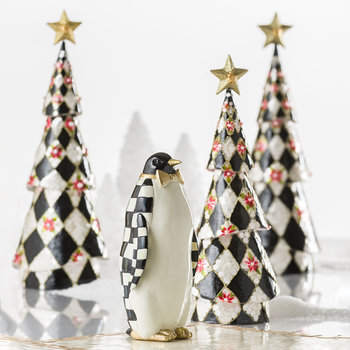 Courtly Check Penguin Ornament