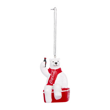 Coca-Cola Polar Bear on Cooler Tree Decoration