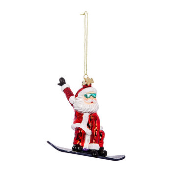 Snowboard Santa Tree Decoration