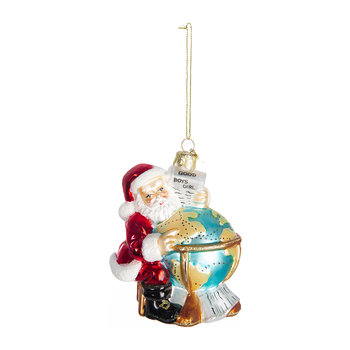 Santa with Globe Tree Decoration