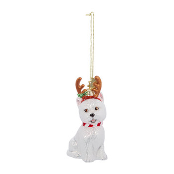 Westie with Antlers Tree Decoration