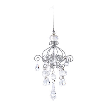 Acrylic Drop Chandelier Tree Decoration - Set of 2