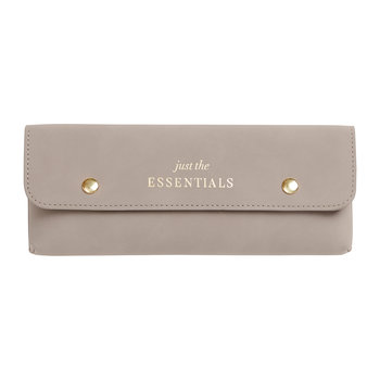 Less Is More PU Leather Pencil Case