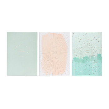 She Shines A4 Stitch Notebook - Set of 3