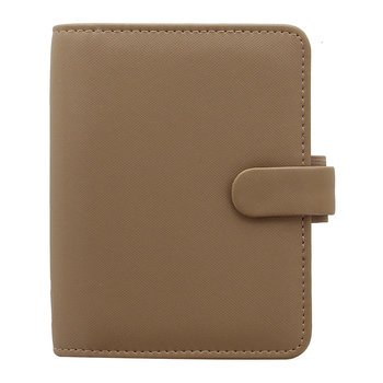Pocket Saffiano Notebook - Fawn