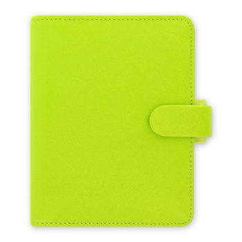 Saffiano Pocket Organiser - Pear