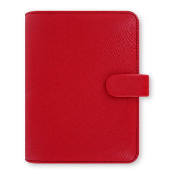 Pocket Saffiano Notebook - Poppy