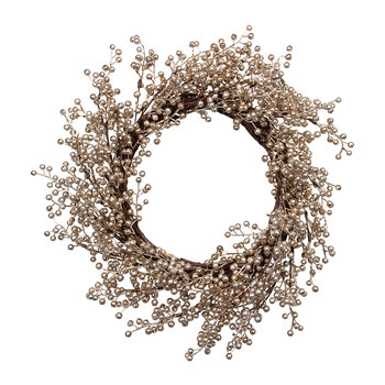 Shiny Berry Wreath - Gold