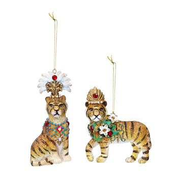 Tiger Tree Decoration - Set of 2