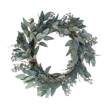 Eucalyptus and Leaf Wreath
