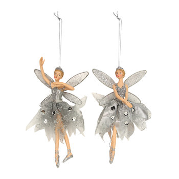 Fairy Tree Decoration - Set of 2 - Silver