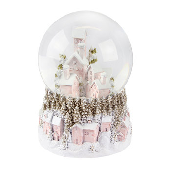 Pastel Village Snow Dome with LED Light