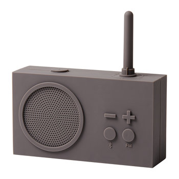 Tykho 3 FM Radio & Bluetooth Speaker - Taupe Grey