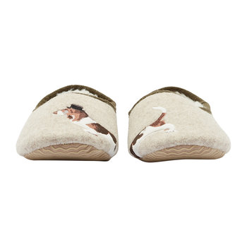 Slippet Felt Character Mule Slippers - Cream Dog