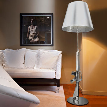 Chrome Lounge Gun Lamp