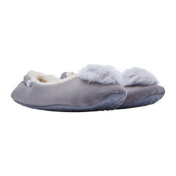 Pombury Ballet Slipper With Pom Pom - Light Grey