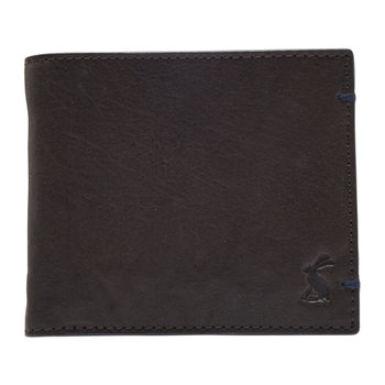 Tillman Leather Wallet - Brown With Metal Strip