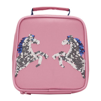 Munch Bag Girls Lunch Bag - Pink Sequin Horse