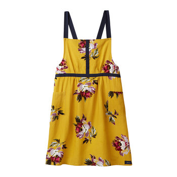 Kitchen Cross Over Apron - Gold Floral