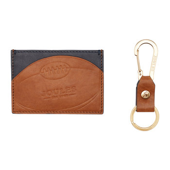 Hobson Rugby Leather Card Holder & Keyring