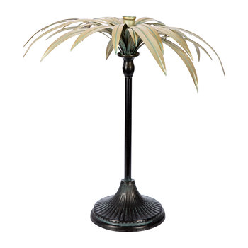 Palm Tree Candle Holder - Gold