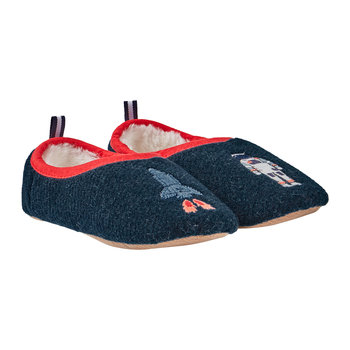 JNR Slippet Felt Slip On Slipper - Navy Rocket