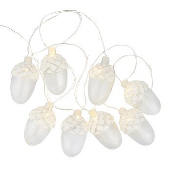 Celina Acorn Light Garland - Snowy White