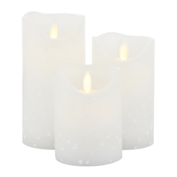 Sara Flameless Candle - Set of 3 - Romantic White
