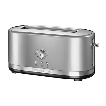 Manual Control Long Slot Toaster - 4 Slot - Contour Silver