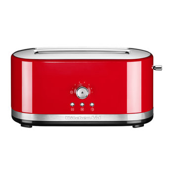 Manual Control Long Slot Toaster - 4 Slot - Empire Red