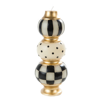 Finial Candle - Black/Ivory