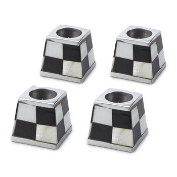 Pyramid Candle Holders - Set of 4 - White