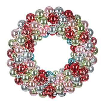 Multi Encrusted Bauble Wreath