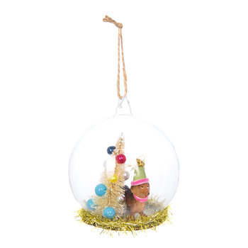 Party Dachshund Christmas Bauble