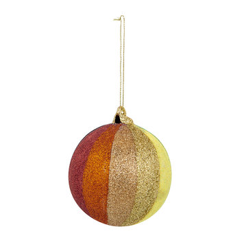 Striped Glitter Rainbow Bauble - Set of 3